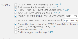 SI CAPTCHA 設定画面01