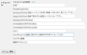 SI CAPTCHA 設定画面02