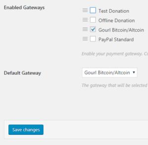 DonationのSettingのペイメントゲートウェイを設定